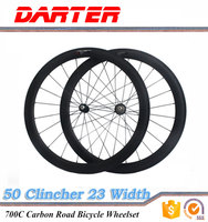 700C 50mm road bike carbon Clincher wheelset