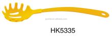 HK5335 color coated handle nylon spaghetti server/pasta tools