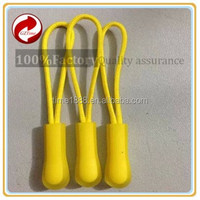 GZ-Time Factory supply clear plastic garment colorful elastic locking pvc zipper pull,plastic colorful clear elastic pvc pull