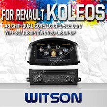 WITSON FOR RENAULT KOLEOS 2014 TOUCH SCREEN CAR DVD WITH 1.6GHZ FREQUENCY A8 DUAL CORE CHIPSET BLUETOOTH GPS