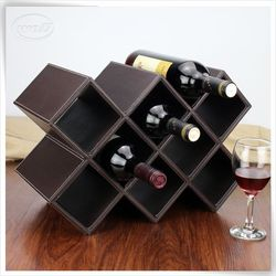 personalised pu leather double cardboarden wine box bottle carrier