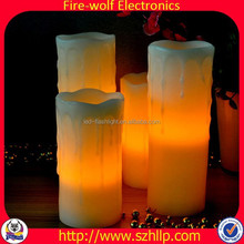 2015 new product china supplier 4 inch witch orange flameless plastic water flooding led candle for halloween