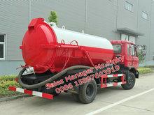 8000 litros caminhão montado aspirador de pó de esgoto otário caminhão de sucção a vácuo caminhão LHD ou RHD para vendas