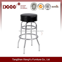 chrome industrial counter height barstool