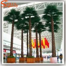 Decorative artificial palm tree leaves high imitation palm tree bark