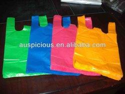 HDPE plastic strip t-shirt bag on roll