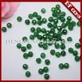 sintético facetas corte verde esmeralda 8mm ronda de cuentas de piedras preciosas
