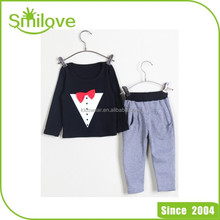 Wholesale fall and winter clothes new Korean children's clothing boys female long pants suit baby boy christmas clotheS
