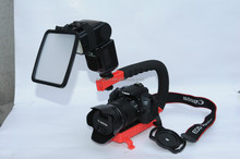 Portable Photography Steadicam C Shape Flash Camera Bracket Video for DSLR SLR camera