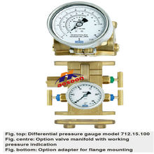Wika Differential pressure gauge model 712.15.100, air pressure gage