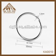 2014 fashion high quality metal key ring circles wholesale