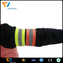 China glow in the dark wristband for events / running reflective armband