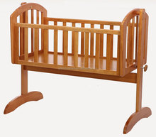 white color pine wood baby crib