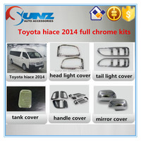 Hot selling for toyota hiace 2013 small bus 2014 chrome kits fule tank cover in Exterior Accessories