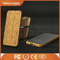Hot selling mobile phone battery charger ultra slim wood battery charger