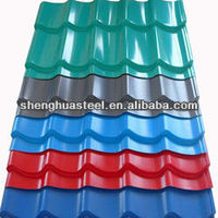 PPGI prepainted galvanized red color coated steel metal corrugated roof tiles for building material supplier in Yiwu