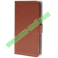 Litchee Texture Leather Case for Nokia 929 with Card Slots and Stand