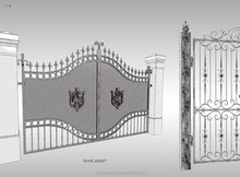 Farm wrought iron metal fancy gate