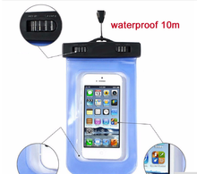 2015 New 1PC Universal Travel Swimming Waterproof Bag Case Cover for Under 5.5 inch Cell Phone Freeshipping&Wholesale