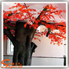 Hot sale artificial red maple tree life size large plastic trees