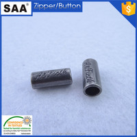 2015 High quality metal cord end with custom logo round cord stopper