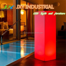 2015 best seller PE rechargeable RGB colorful waterproof IP68 remote control Decorative Lighting Columns