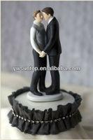 Resin Gay Wedding Cake Topper Small Order Supplier