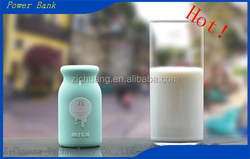 Top selling Customized capacity dual USB cute fashion and cool Manufacturer Wholesale ODM OEM milk bottle shaped Power Bank