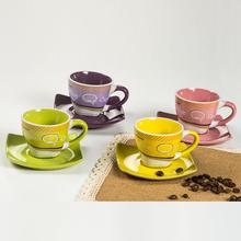 ceramic espresso cups and saucers