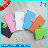 Colorful PU Leather Wallet Type Magnet Design Flip Case Cover for IPhone 4 4G 4S