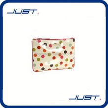 Low MOQ high quality cosmetic bag with mirror compact for woman