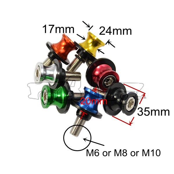 BJ винты-3005 черный цвет мотоцикл аксессуары m8 cnc алюминиевый маятник шпули, ползунок подходит для honda shadow 750