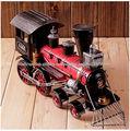 Retro Tren Modelo locomotora de vapor Inicio Decoracion Colección de recuerdos