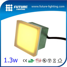 Outdoor landscape lighting high quality 5years warranty Square100*100mm glass cover recessed floor led brick light