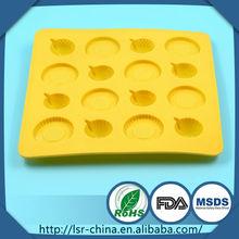 Fashional diseñada decoración moldes de silicona torta, pastel de molde con forma de anillo, decoración de tortas