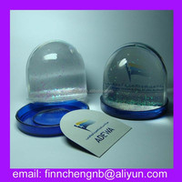 valentine's day acrylic photo paper insert plastic snow globe, snow ball,water ball paperweight