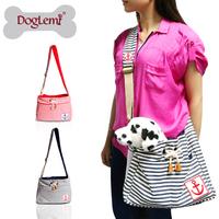 Fashion Convenient Portable Dog Carrier Bag Soft Sided Pet Dog Carrier Stripe Shoulder Bag
