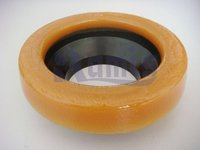 Toilet bowl rubber gasket