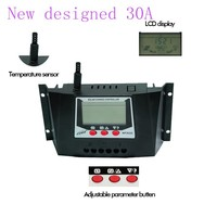 new design wp3024 30a 12v/24v ce rohs solar battery charge controller