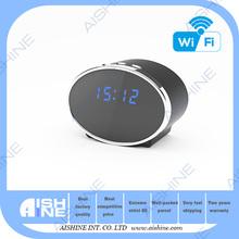 Low Cost HD 1080P Wifi IP Camera Alarm Clock Hidden Camera with IR Night Vision