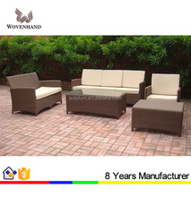 Hot sale outdoor PE wicker Rattan sofa with table