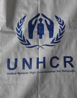 HDPE woven fabric tarpaulin sheet with logo printing by machine