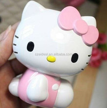 Hot sale Hello Kitty shape rechargeable power bank charger for promotional gifts