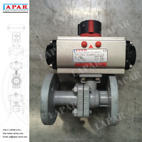 LAPAR WCB Floating Pneumatic Flanged Ball Valve with ISO 5211 Mounting Pad