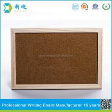wood frame eco-friendly cork board customized
