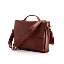 High Quality Fashion Vintage Style Man Leather Messenger Bag Handbag Manufacturer #6033X