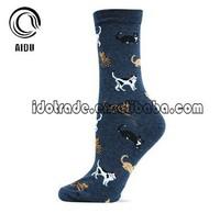 Men Colorful Cat Wholesale Custom Men Dress Socks