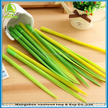 Soft silicone design students stationery green grass leaf shaped promotional ball pen