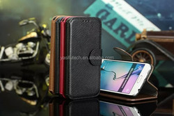 For Galaxy S6 case, for Samsung S6 case, Genuine Wallet leather case for Samsung S6