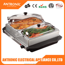 ATC-BS628 electric food warmer buffet pans with non- skid feet
